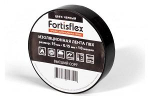 Изолента ПВХ 15x0.15х10 черная (Fortisflex) 71228