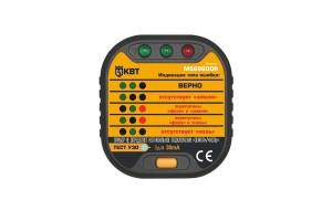Тестер для проверки правильности монтажа евро-розеток MS6860DR, КВТ 76118