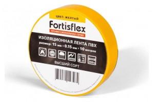 Изолента ПВХ 15x0.15х10 желтая (Fortisflex) 71224