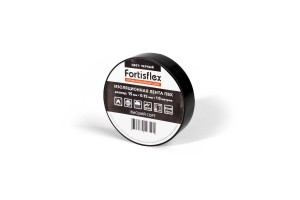 Изолента ПВХ 15x0.15х10 черная (Fortisflex)